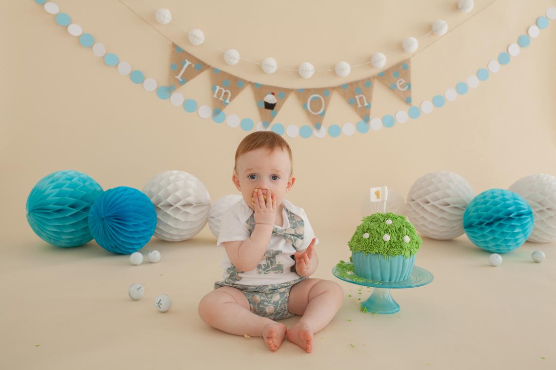 Cake Smash Baby Photography by Studio Life of Edinburgh