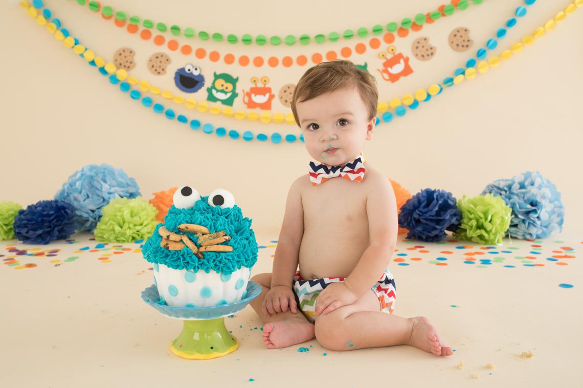 Studio Life Cake Smash Photography Edinburgh Baby Ellis 1st Birthday