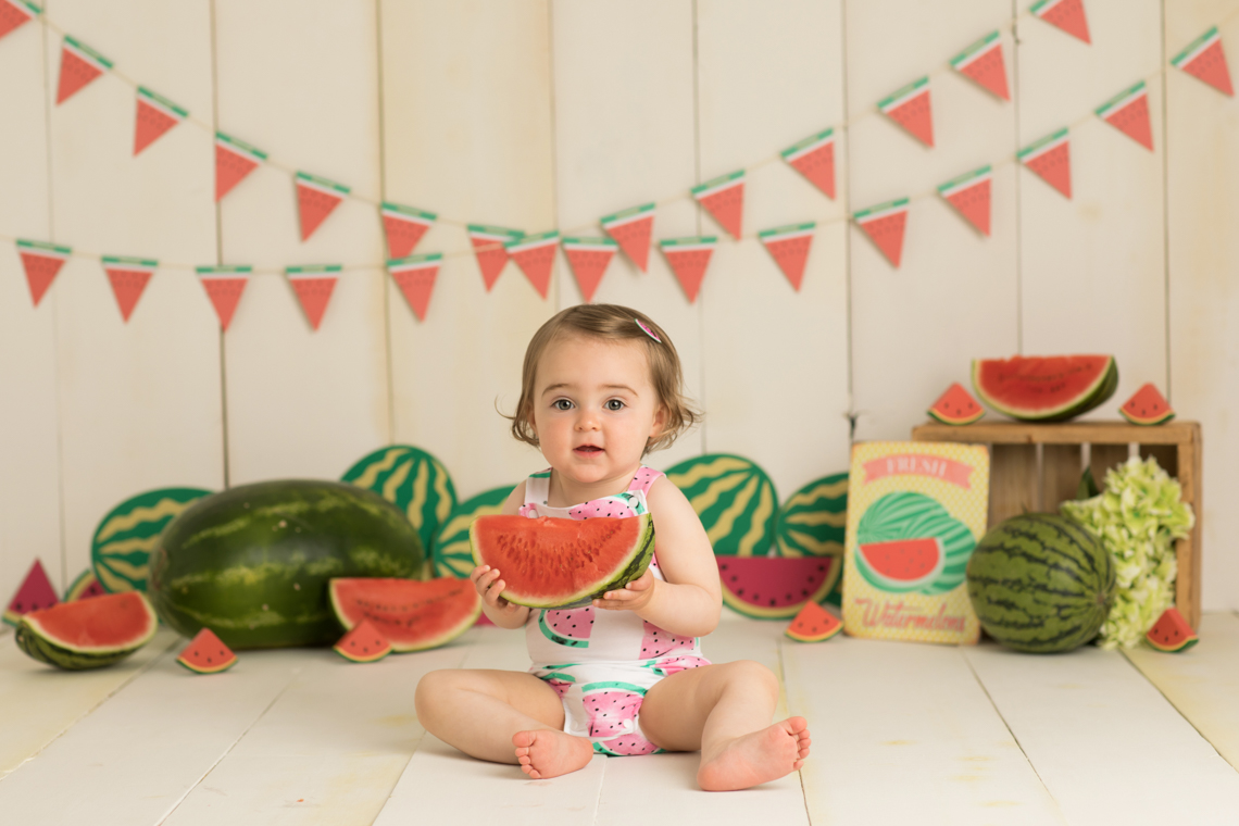 Watermelon Smash Baby Photography by Studio Life of Edinburgh