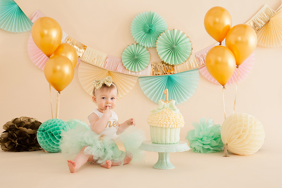 cake smash first birthday photography